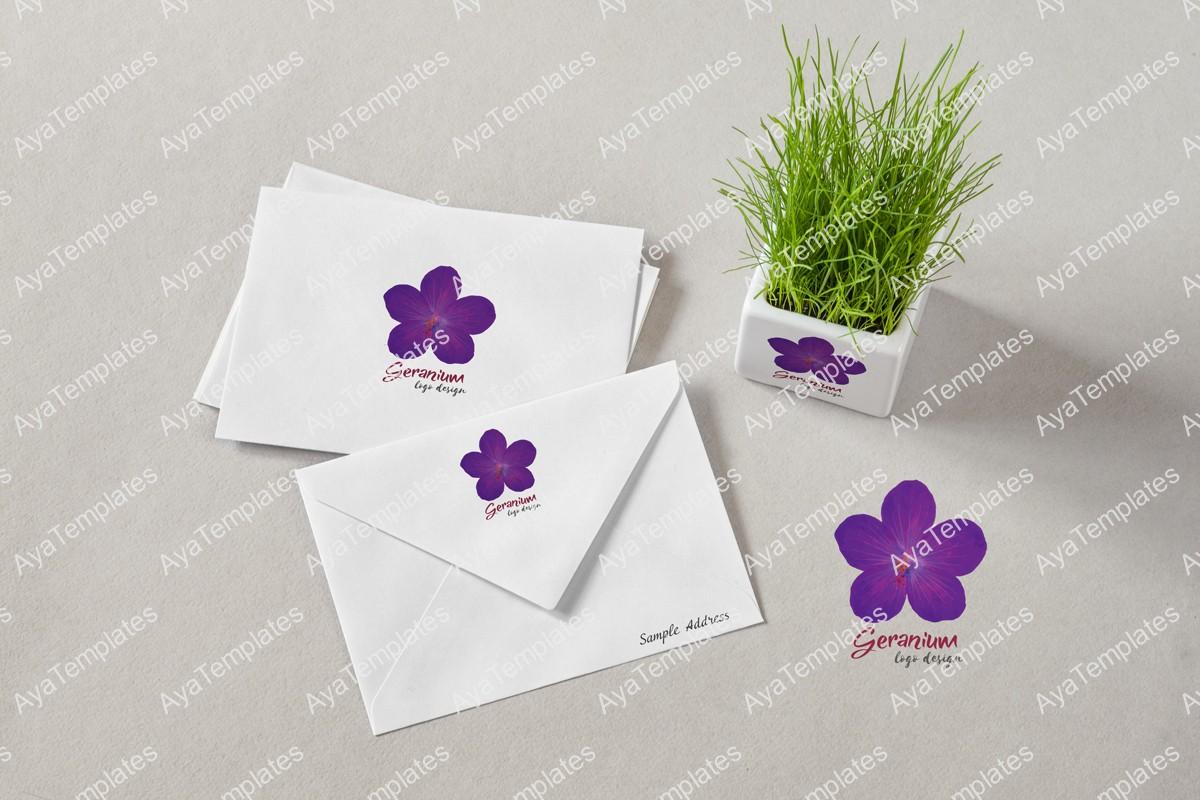 04-geranium-logo-brand-mockup-ayatemplates
