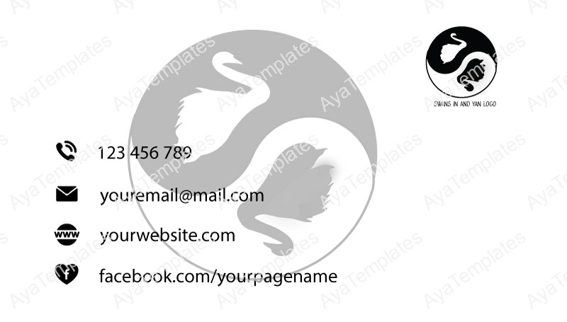 Business-card-template-swans-in-and-yan-back