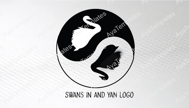 Business-card-template-swans-in-and-yan-front
