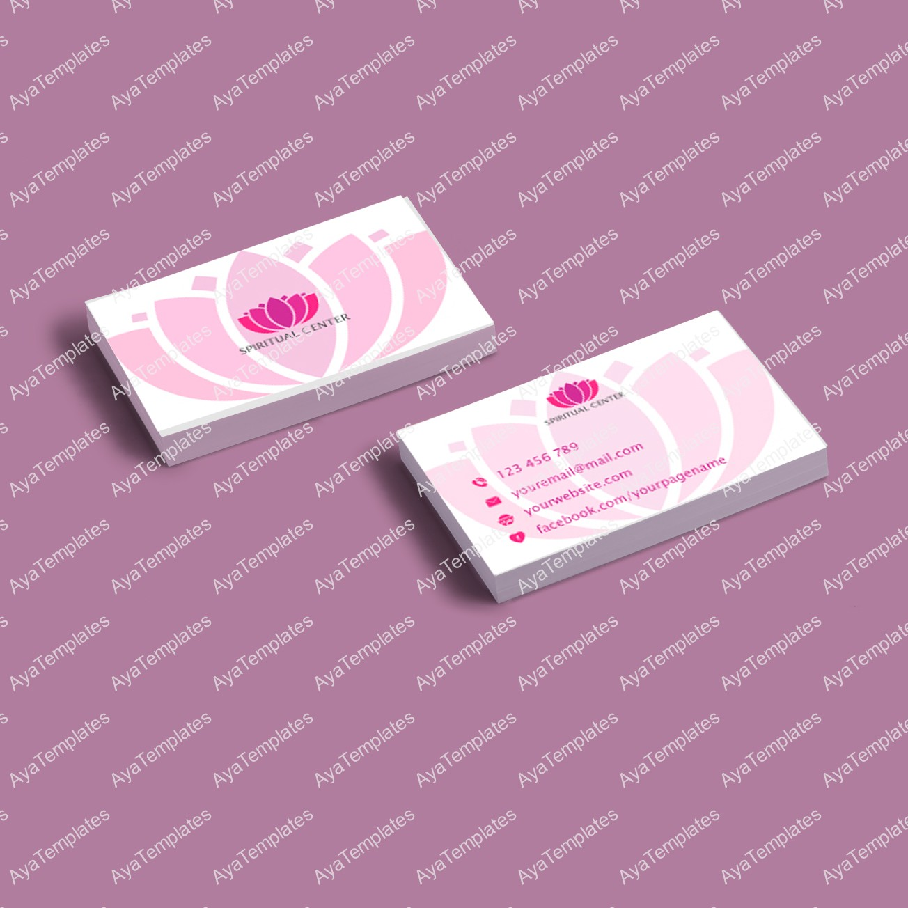 Business Card Template A4