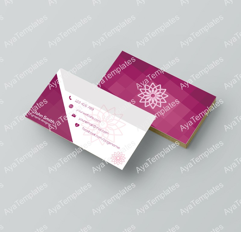 "Business card template design – ""Graphic designer"" – AYA Templates"