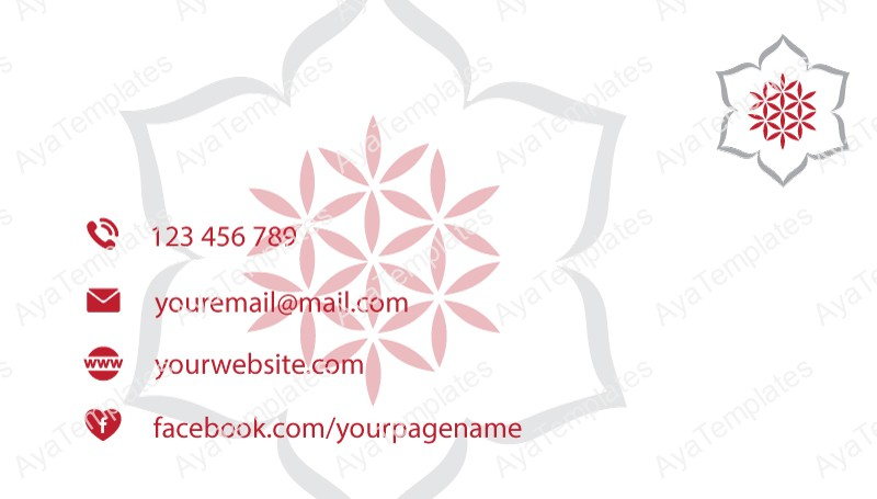Business-card-template-Snowflake-Sacred-Flower-logo-back