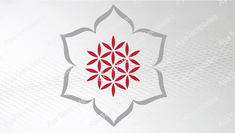 Business-card-template-Snowflake-Sacred-Flower-logo-front