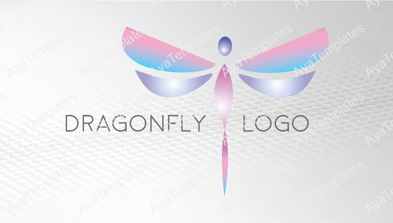 Business-card-template-Dragonfly-logo-front