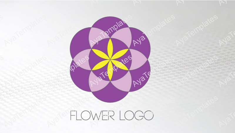 Business-card-template-Sacred-Rose-flower-logo-front
