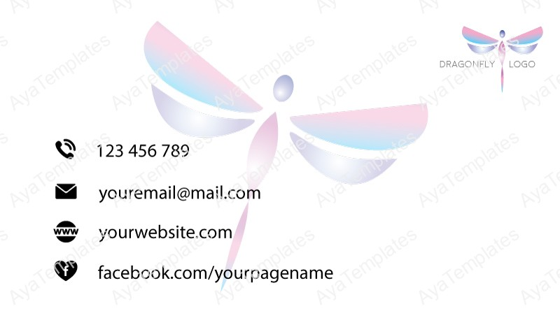 Business-card-template-dragonfly-logo-back