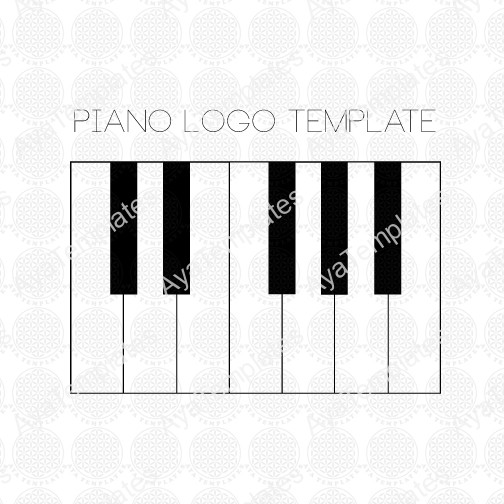 piano logo template aya templates. Black Bedroom Furniture Sets. Home Design Ideas