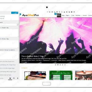 tablet product gallery mockup AyaClubPro Customizing General