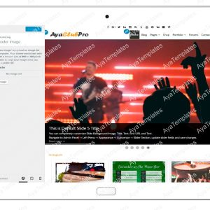 tablet product gallery mockup AyaClubPro Customizing HeaderImage