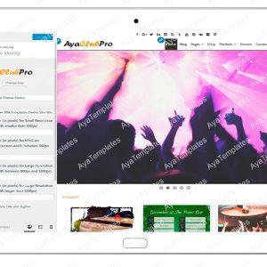 tablet product gallery mockup AyaClubPro Customizing SiteIdentity