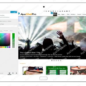 tablet product gallery mockup AyaClubPro Customizing WooCommerce