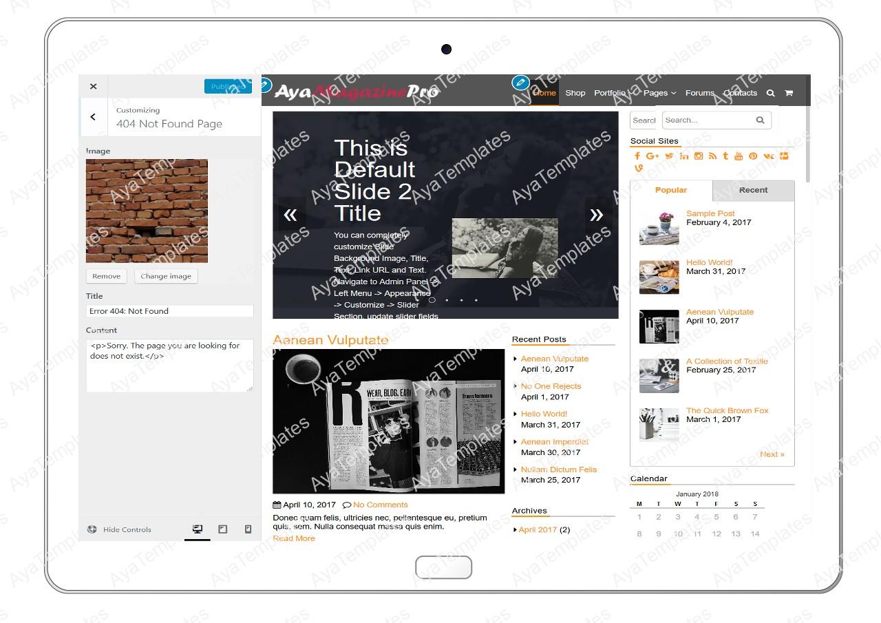 tablet-product-gallery-mockup-AyaMagazinePro-Customizing-404-Not-FoundPage