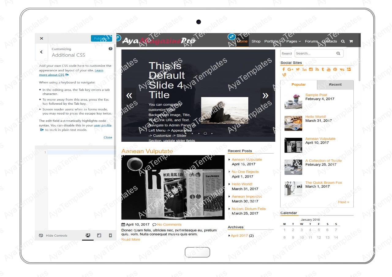 tablet-product-gallery-mockup-AyaMagazinePro-Customizing-Additional-CSS