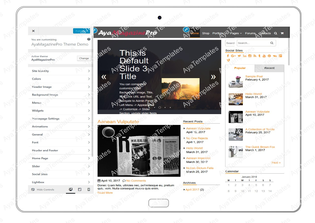 tablet-product-gallery-mockup-AyaMagazinePro-Customizing-All-Options