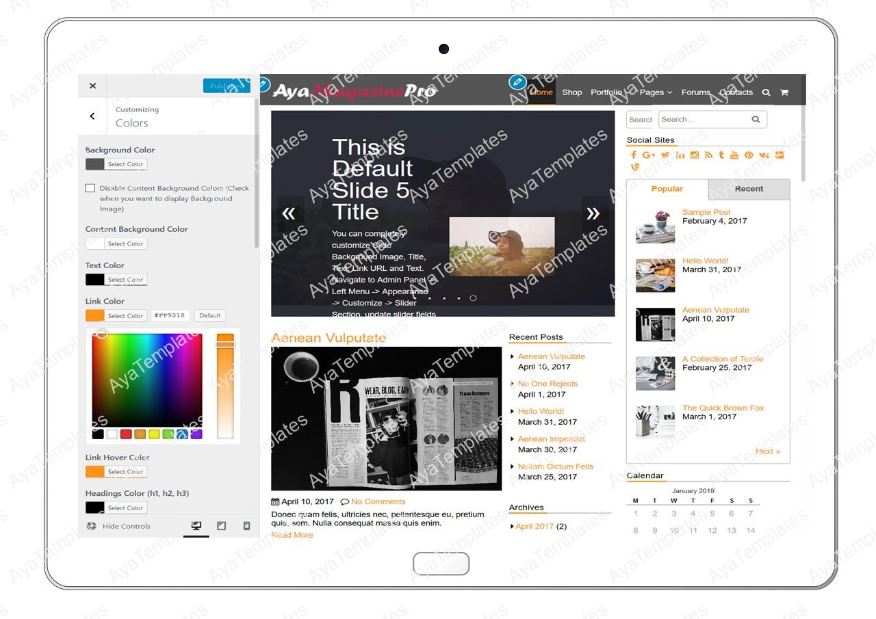 tablet-product-gallery-mockup-AyaMagazinePro-Customizing-Colors