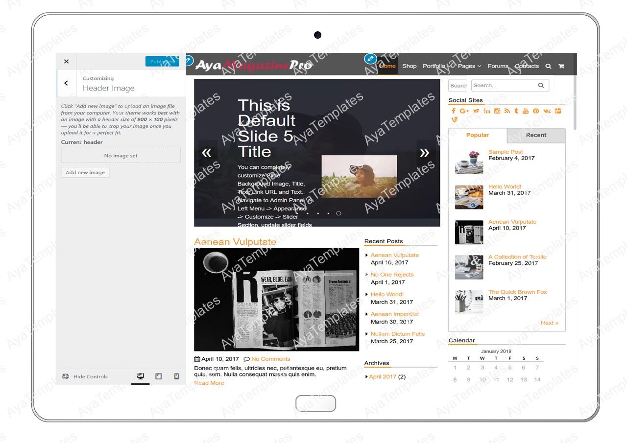 tablet-product-gallery-mockup-AyaMagazinePro-Customizing-Header-Image