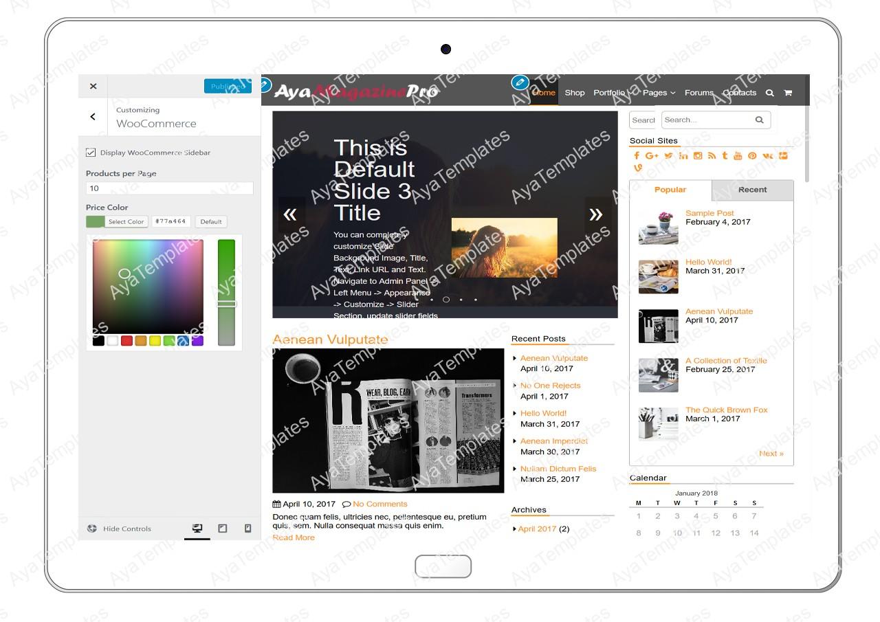 tablet-product-gallery-mockup-AyaMagazinePro-Customizing-WooCommerce