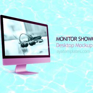 Desktop-Mockup monitor showcase