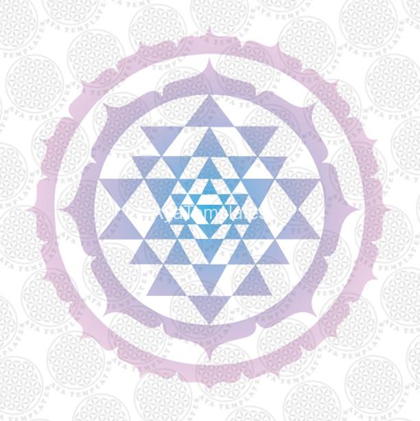 Sri Yantra Symbol Logo Aya Templates