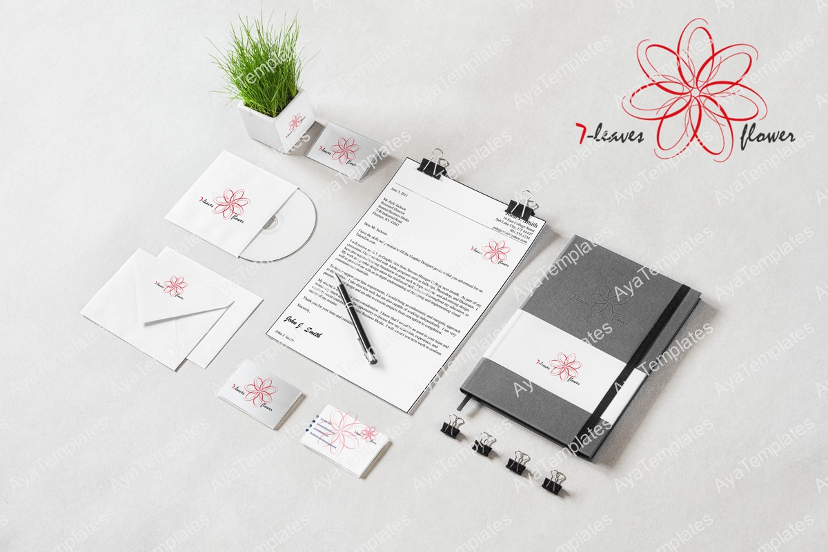 7-leaves-flower-logo-mockup-all