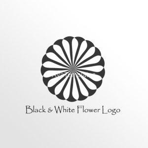 Black-And-White-Flower-Logo
