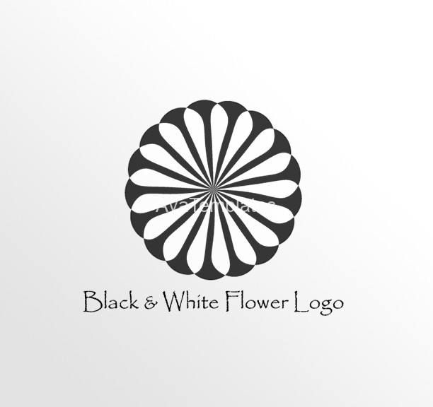 Black-And-White-Flower-Logo