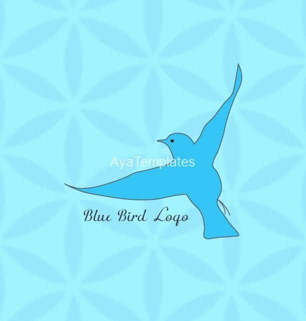 blue bird logo � aya templates