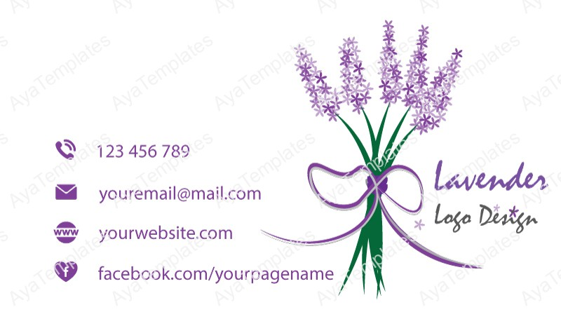 Business-card-template-Lavender-logo-back