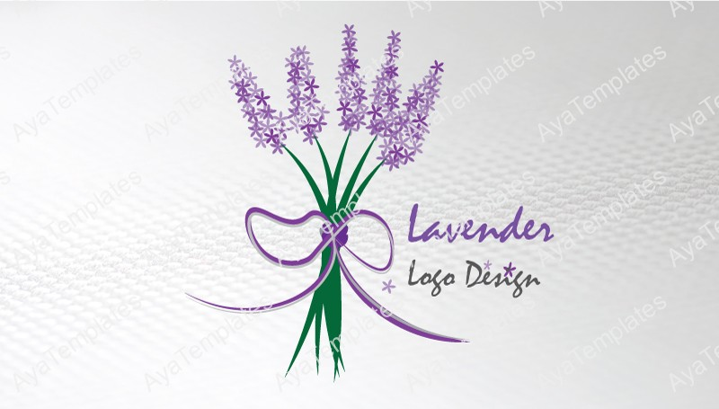 Business-card-template-Lavender-logo-front