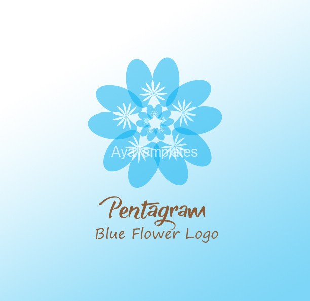 Pentagram-Blue-Flower-Logo.
