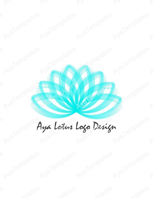 aya lotus logo design aya templates. Black Bedroom Furniture Sets. Home Design Ideas