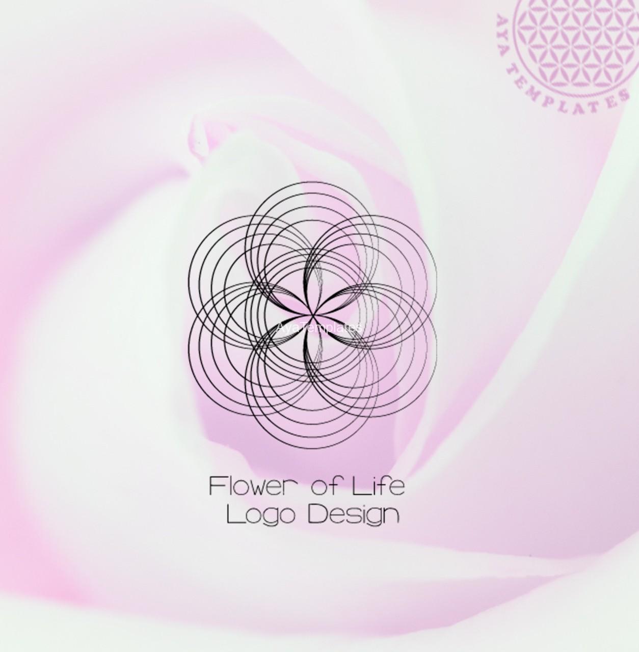 flower of life logo design aya templates. Black Bedroom Furniture Sets. Home Design Ideas