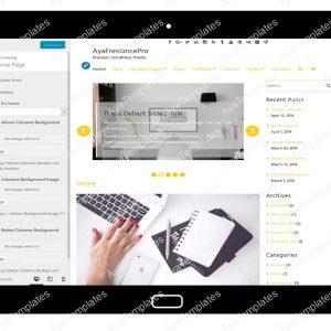 AyaFreelancePro Customizing Home Page