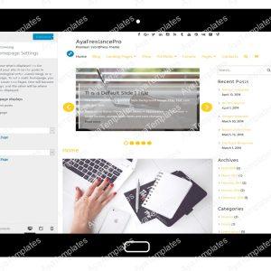 AyaFreelancePro Customizing Homepage Settings