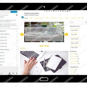 AyaFreelancePro Customizing Widgets