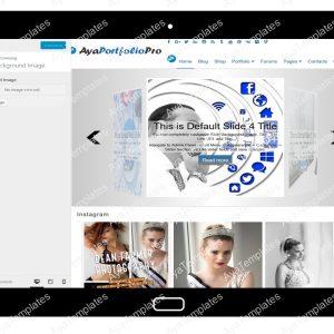 AyaPortfolioPro Customizing Background Image