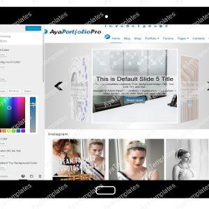 AyaPortfolioPro Customizing Colors