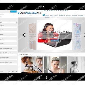 AyaPortfolioPro Customizing Font
