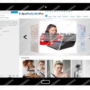 AyaPortfolioPro Customizing Header Image