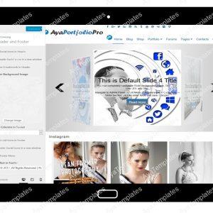 AyaPortfolioPro Customizing Header and Footer