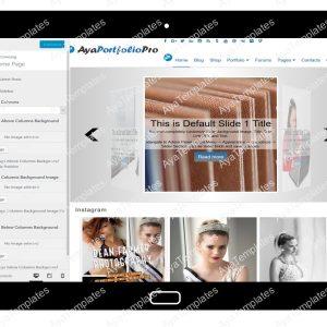 AyaPortfolioPro Customizing Home Page