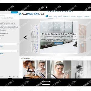 AyaPortfolioPro Customizing Home Page Settings
