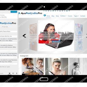 AyaPortfolioPro Customizing Site Identity