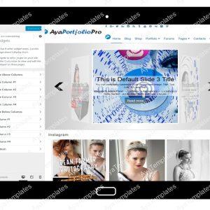 AyaPortfolioPro Customizing Widgets