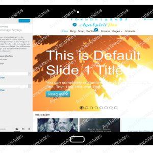 AyaSpiritPro Customizing Home Page Settings