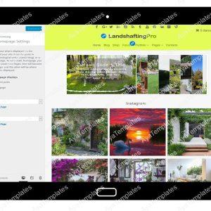 LandshaftingPro Customizing Homepage Settings