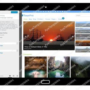 TourPro Customizing Home Page Settings