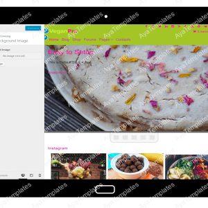 VeganPro Customizing Background Image