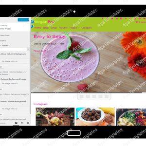 VeganPro Customizing HomePage