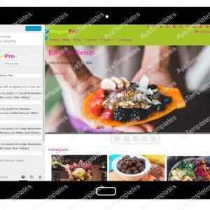 VeganPro Customizing SiteIdentity